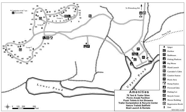 Kenneth Wilson Campground Map