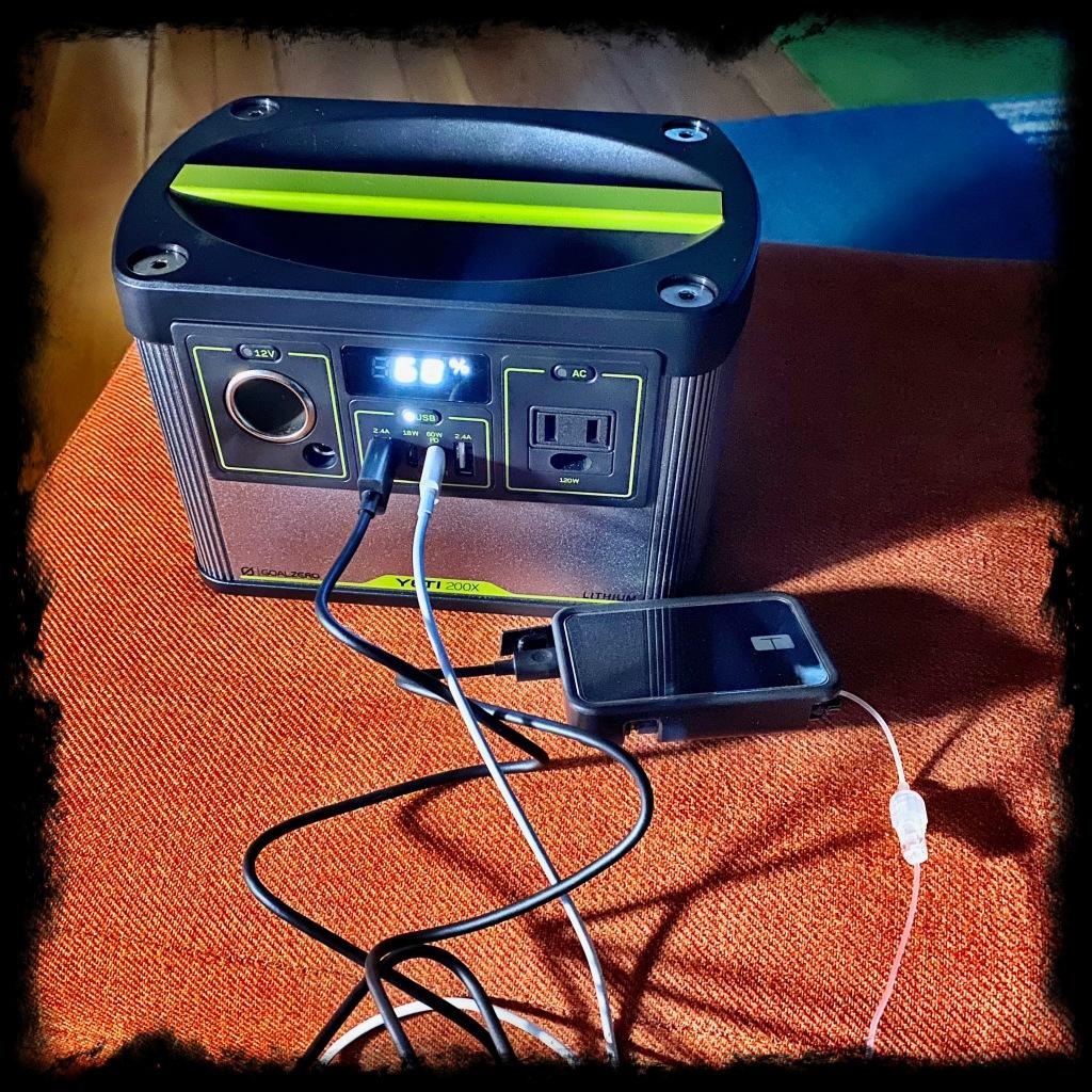 Yeti charging insulin pump